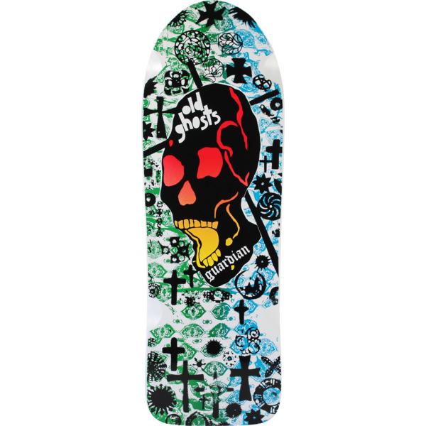 "Vision Skateboards Old Ghost Guardian DK White / Green / Blue Old School Skateboard Deck - 10"" x 31.75"""