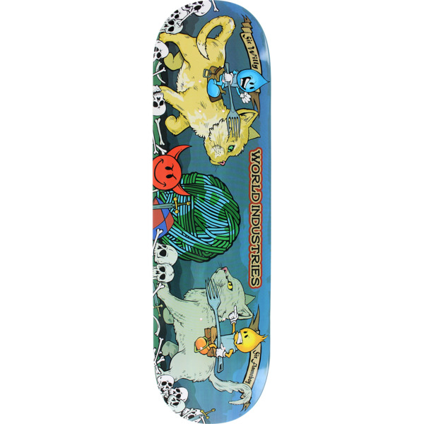 "World Industries Skateboards Cats Jousting Skateboard Deck - 8.5"" x 33"""