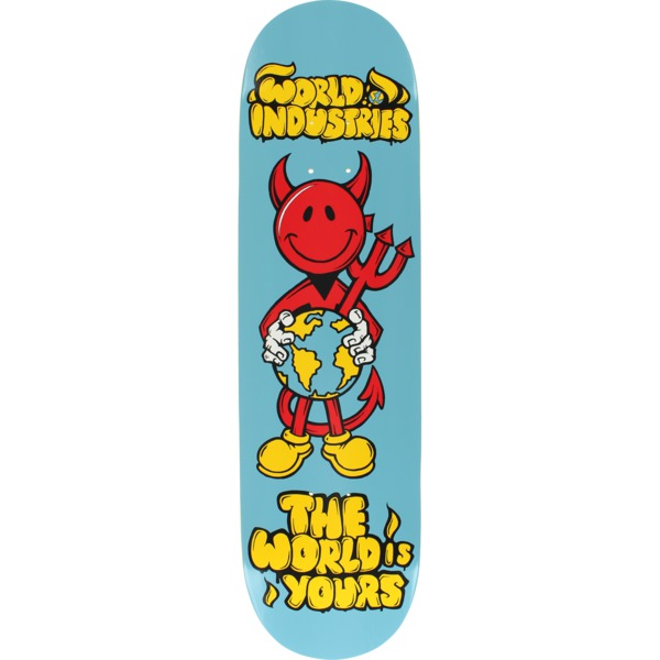 "World Industries Skateboards Devil Man The Worl Is Yours Skateboard Deck - 8.25"" x 32"""