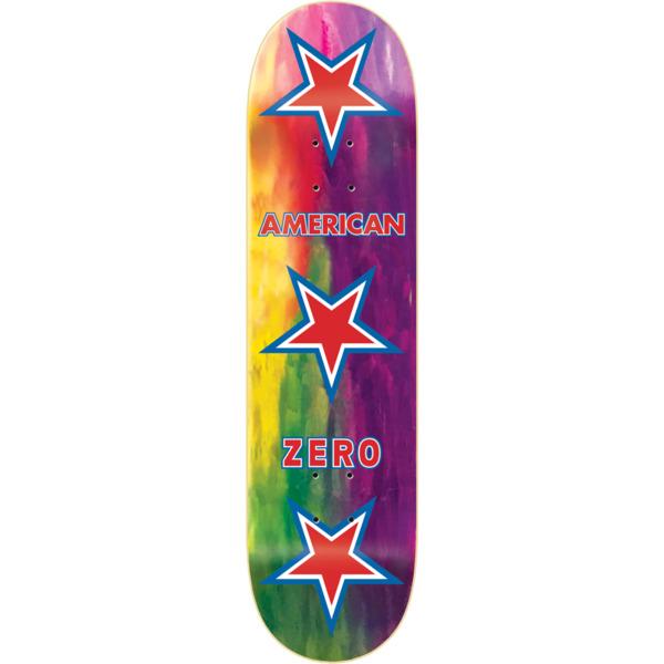 "Zero Skateboards American Zero Rainbow Stain Assorted Skateboard Deck - 8.5"" x 32.3"""