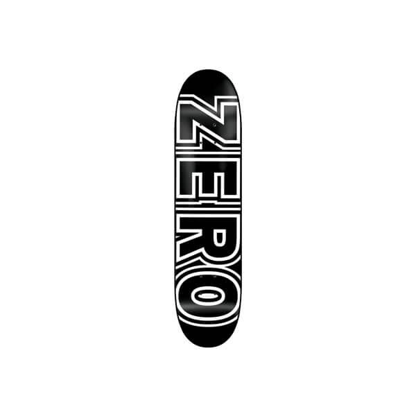 "Zero Skateboards Bold Black / White Skateboard Deck - 8.25"" x 31.9"""