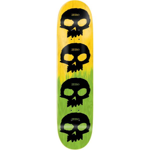 Zero Skateboards Multi Skull Yellow   Green   Black Skateboard Deck - 8.25 x  31.9 - Warehouse Skateboards 1821845a3bb