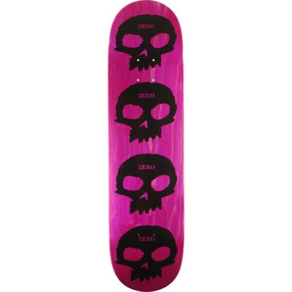 716f702321f246 Zero Skateboards Multi Skull Pink / Black Skateboard Deck - 8.12 x 31.7 -  Warehouse Skateboards