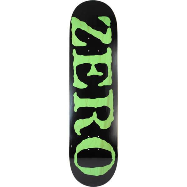 Zero Skateboards OG Font KO Black   Green Skateboard Deck - 8.25 x 31.9 - Warehouse  Skateboards 68db3c4cf9d