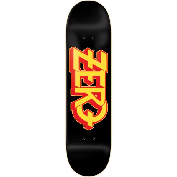 """Zero Skateboards Ozzy Black / Yellow / Red Skateboard Deck - 8.25"""" x 31.6"""""""