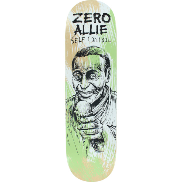 "Zero Skateboards Jon Allie Self Control Skateboard Deck - 8.5"" x 32"""