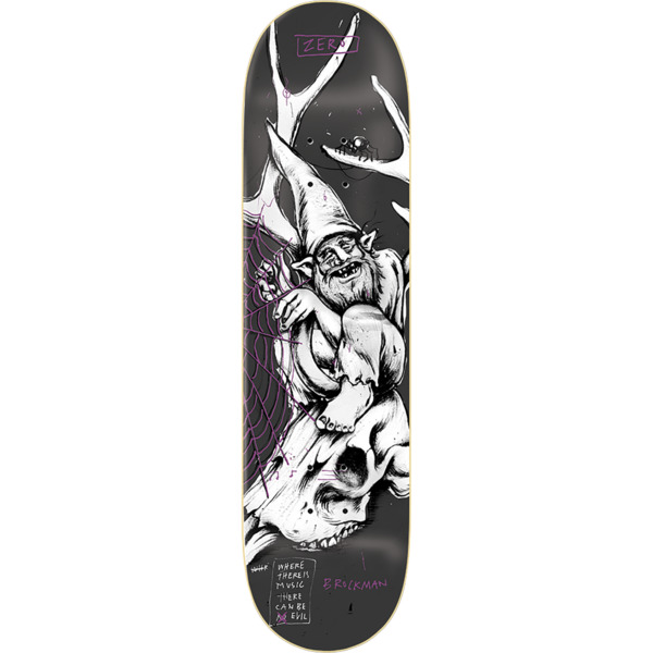 "Zero Skateboards James Brockman Gnarly Gnomes Skateboard Deck - 8"" x 31.6"""