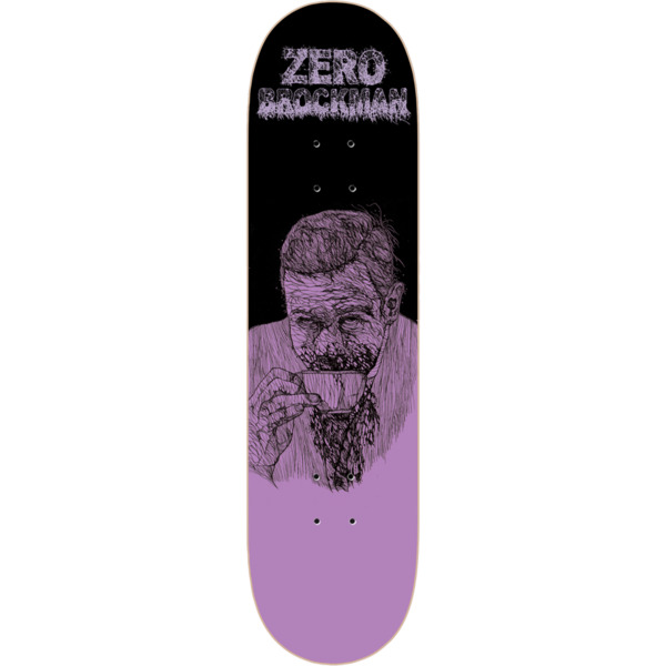"Zero Skateboards James Brockman Zombie Purple / Black Skateboard Deck - 8.37"" x 31.6"""