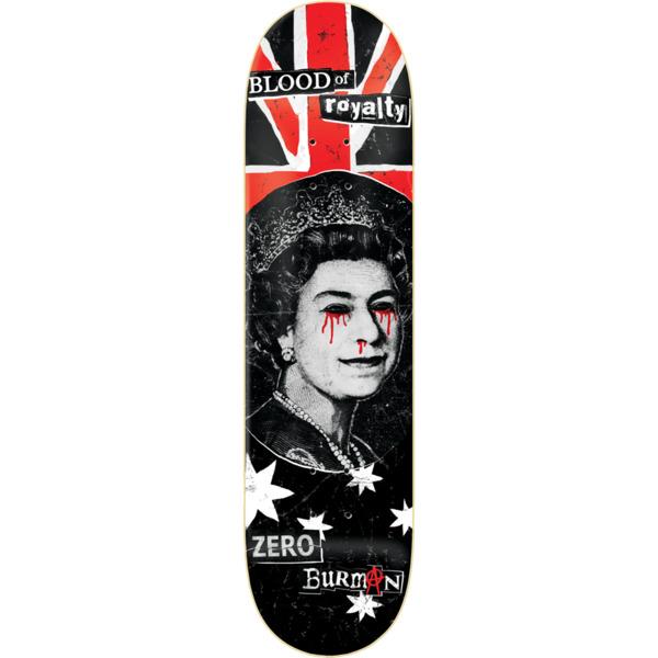 """Zero Skateboards Dane Burman Blood Of Royalty Skateboard Deck - 8.5"""" x 32.3"""""""