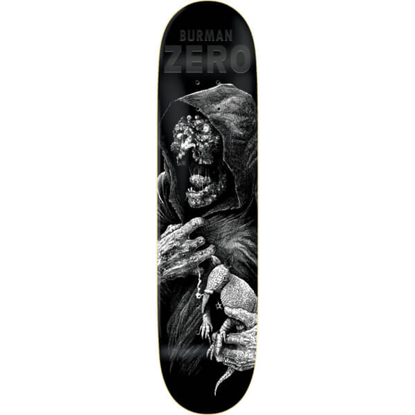 """Zero Skateboards Dane Burman Faces Of Death Resin-7 Skateboard Deck - 8.37"""" x 32.2"""""""