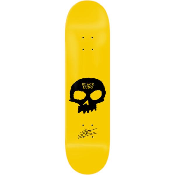 "Zero Skateboards Forrest Edwards Signature Skull Yellow Skateboard Deck - 8.25"" x 31.9"""