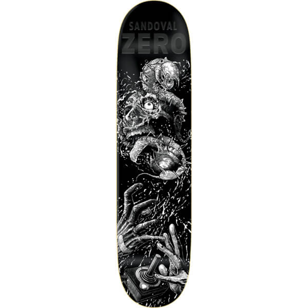 "Zero Skateboards Tommy Sandoval Faces Of Death Resin-7 Skateboard Deck - 8.12"" x 31.7"""