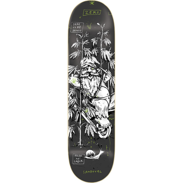 "Zero Skateboards Tommy Sandoval Gnarly Gnomes Skateboard Deck - 8.37"" x 31.9"""