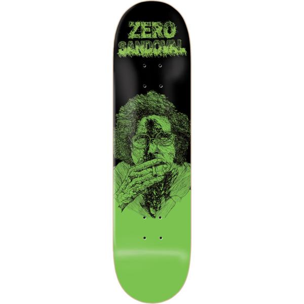 "Zero Skateboards Tommy Sandoval Zombie Green / Black Skateboard Deck - 8.12"" x 31.6"""