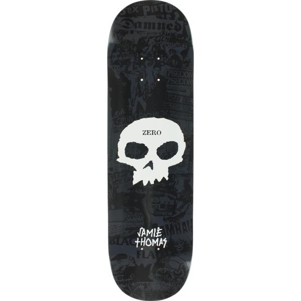 "Zero Skateboards Jamie Thomas Punk Band Skull Black / White Skateboard Deck - 8.62"" x 32.5"""