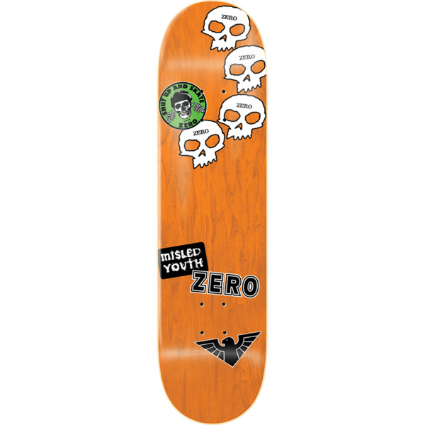 "Zero Skateboards Jamie Thomas Stickers Skateboard Deck - 8.5"" x 32.3"""