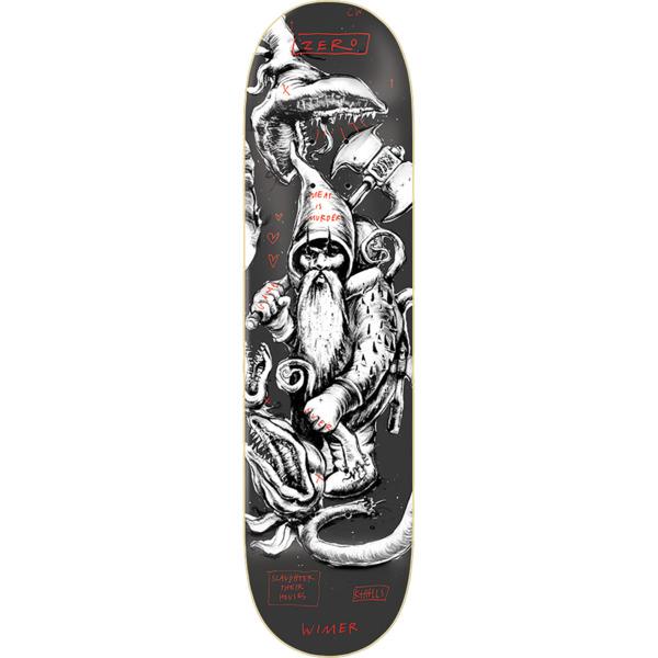"Zero Skateboards Chris Wimer Gnarly Gnomes Skateboard Deck - 8.25"" x 31.9"""