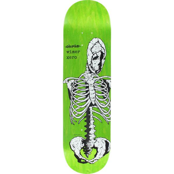"Zero Skateboards Chris Wimer Skeletal White / Green Skateboard Deck - 8.25"" x 31.9"""