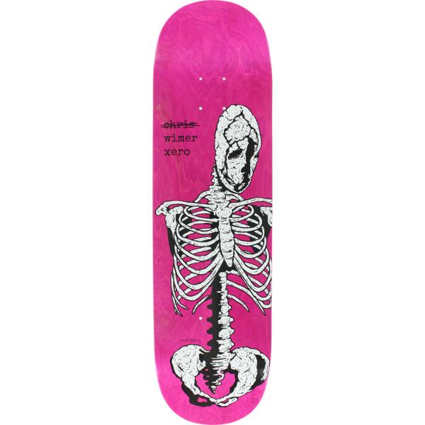 "Zero Skateboards Chris Wimer Skeletal White / Pink Skateboard Deck - 8.5"" x 32.3"""