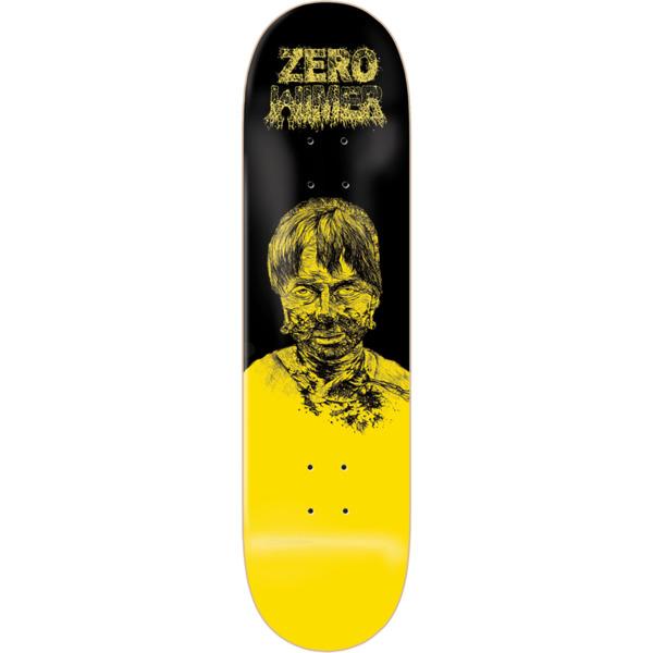"Zero Skateboards Chris Wimer Zombie Yellow / Black Skateboard Deck - 8.5"" x 32.3"""