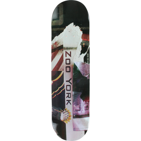 "Zoo York Skateboards Bank Gothic Skateboard Deck - 8.1"" x 32"""