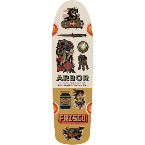 "Arbor Skateboards Artist Collection Pilsner Cruiser Skateboard Deck - 8.25"" x 28.75"""