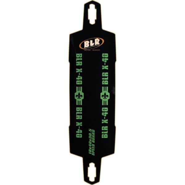 Black Leather Racing Speed Board X-40 Downhill Longboard Skateboard Deck