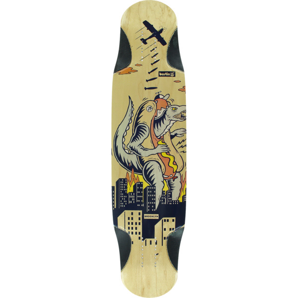 "Bustin Skateboards Shrike 38 Godzilla Longboard Skateboard Deck - 9.4"" x 38.3"""