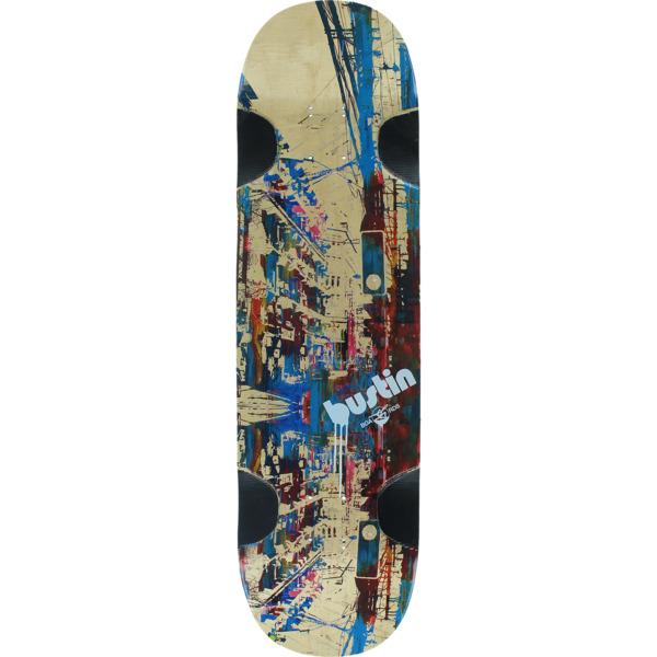 "Bustin Skateboards Yoface 34 Barcelona Longboard Skateboard Deck - 9.1"" x 34.5"""