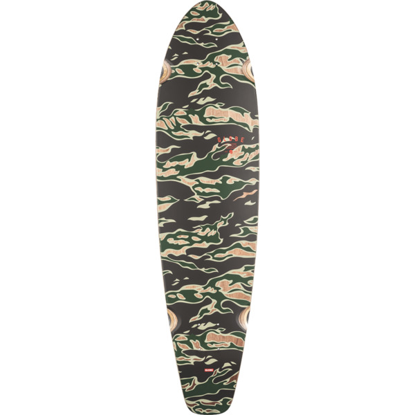"Globe The All Time Tiger Camo Longboard Skateboard Deck - 9"" x 35.87"""