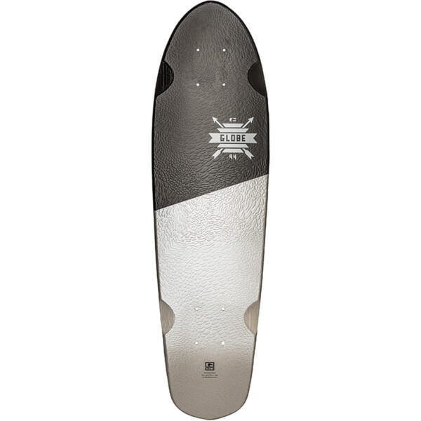 "Globe Blazer 26 Black / White / Serpent Cruiser Skateboard Deck - 7.25"" x 26"""