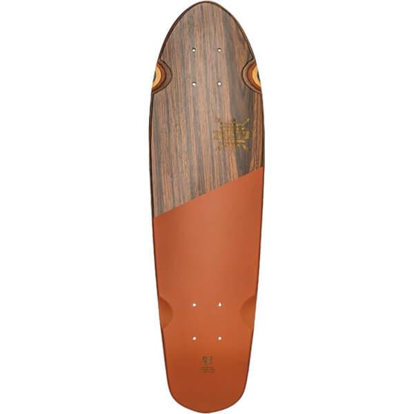"Globe Blazer 26 Rosewood / Rust Cruiser Skateboard Deck - 7.25"" x 26"""