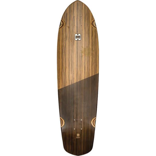 """Globe Blazer XL Zebrawood / Black Cruiser Skateboard Deck - 9.75"""" x 36.25"""""""