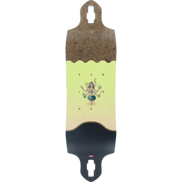 "Globe Geminon Micro Drop Through Coconut / Hula Longboard Skateboard Deck - 10"" x 37.5"""
