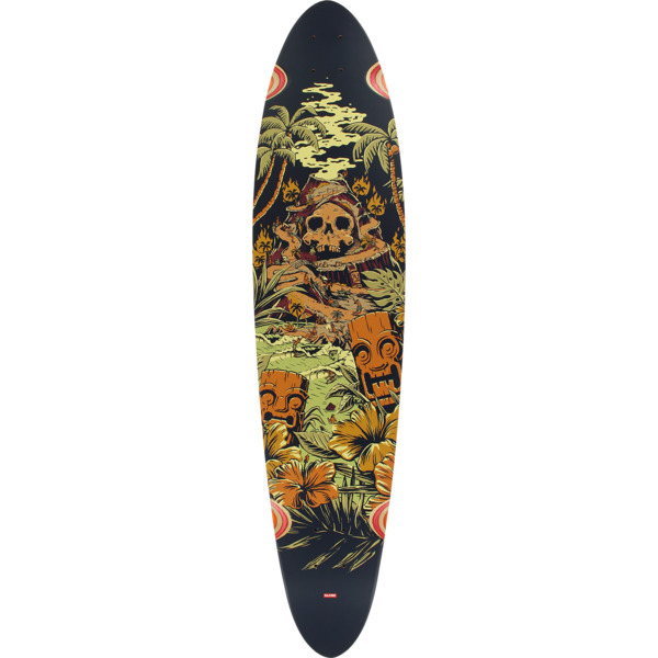"Globe Pinner Classic Fire Island Longboard Skateboard Deck - 9"" x 40"""