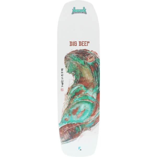 "Kebbek Skateboards Jordan Wells Dig Deep Pool White Longboard Skateboard Deck - 8.4"" x 32"""