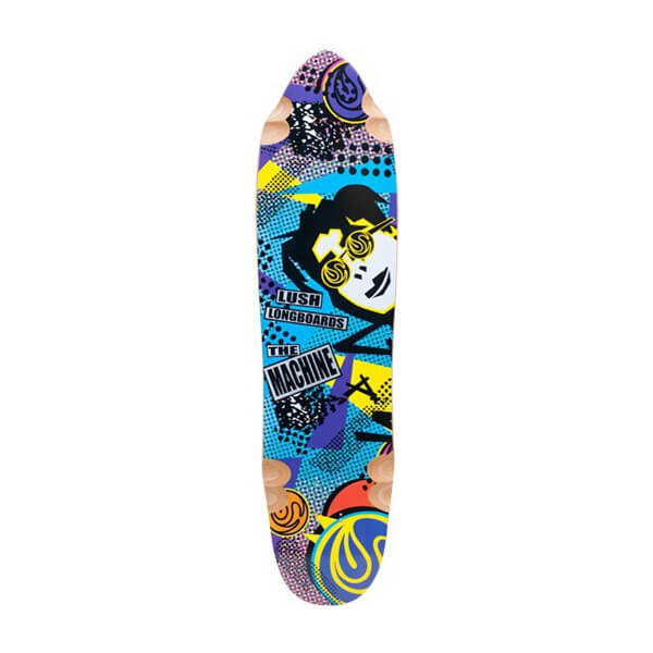 "Lush Longboards Machine 80s Longboard Skateboard Deck - 9.87"" x 38"""