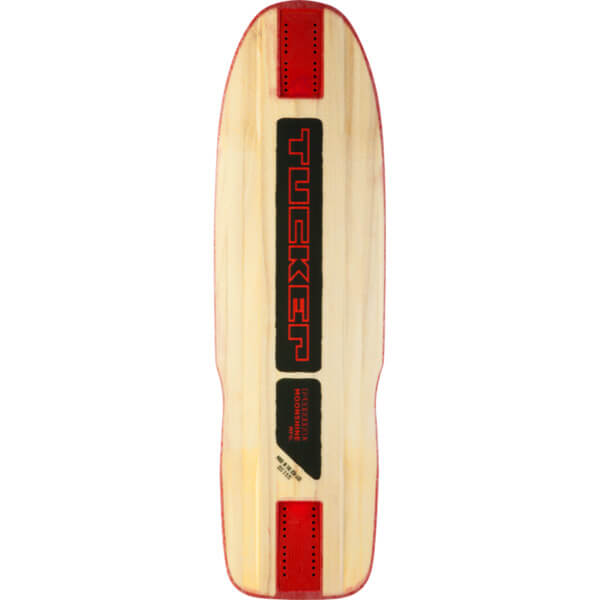 "Moonshine MFG Tucker Natural / Black / Red Longboard Skateboard Deck - 9.75"" x 33"""