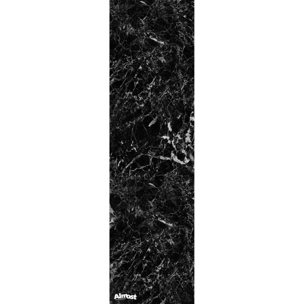 "Almost Skateboards Marble Black Griptape - 9"" x 33"""