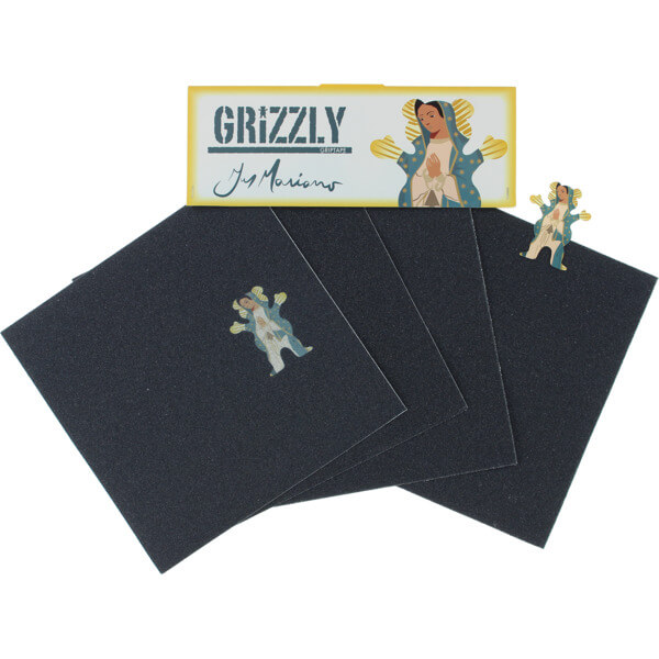 """Grizzly Grip Tape Guy Mariano Hail Marianox Griptape 4 Pre-Cut Squares - 9"""" x 33"""""""