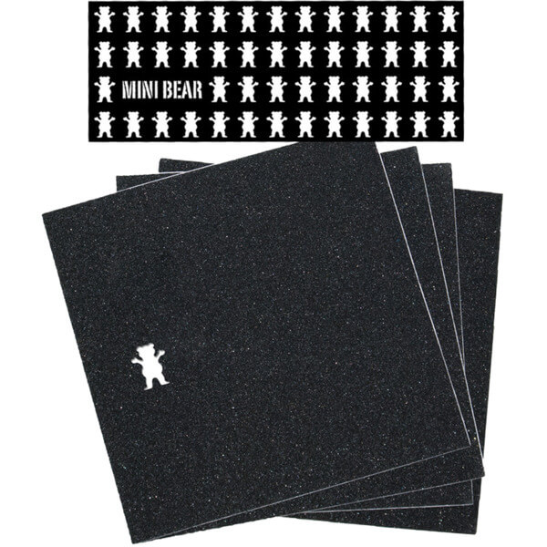 "Grizzly Grip Tape Mini Bear Griptape 4 Pre-Cut Squares - 9"" x 33"""
