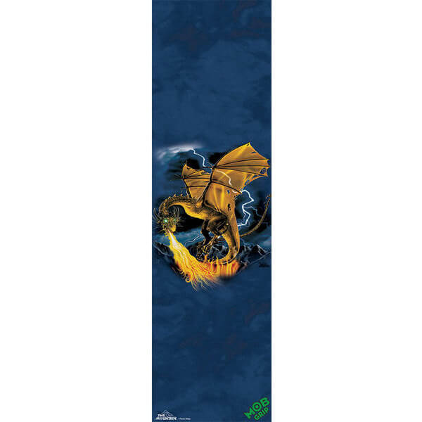 "Mob Grip Mountain Golden Dragon Griptape - 9"" x 33"""