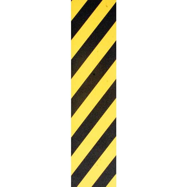 "Pimp Grip Tape Caution Black / Yellow Stripe Griptape - 9"" x 33"""