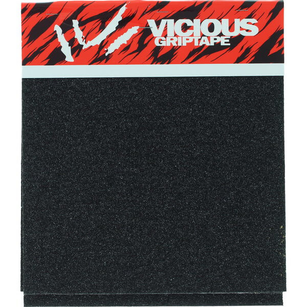 "Vicious Grip Tape 4 Squares (10"" x 11"") Black Griptape 4 Pieces 11"" X 10"" Pre-Cut Squares - 11"" x 40"""
