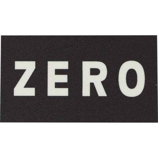 """Zero Skateboards One (1) Piece Strip Black / Clear Griptape - 5"""" x 9"""""""