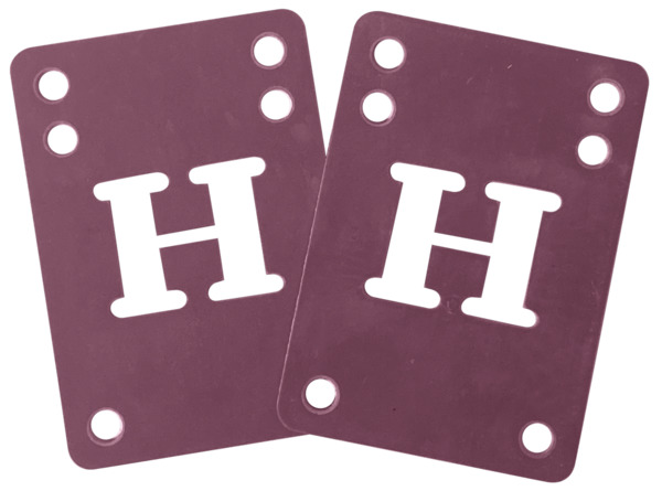 Blank Skateboards H-Block Purple Riser Pads - Set of Two (2) - 2mm