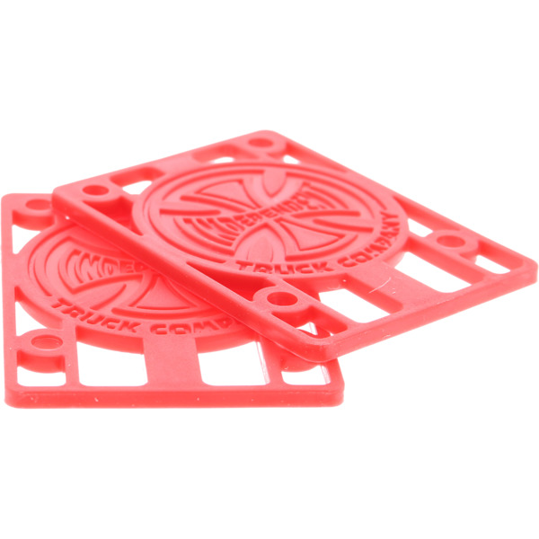 Independent Genuine Parts Red Skateboard Hard Risers - 1/8""