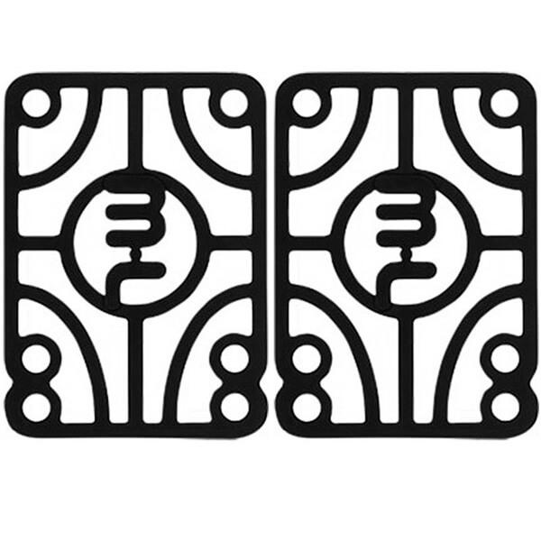 "Mini Logo Black Riser Pads - Set of Two (2) - 1/4"""
