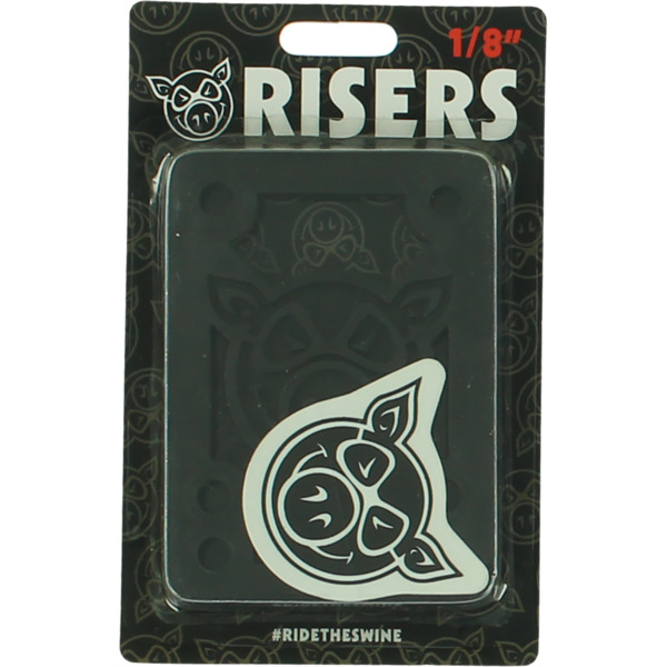 "Pig Wheels Piles Black Riser Pads - Set of Two (2) - 1/8"""