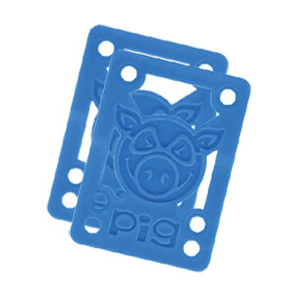 "Pig Wheels Piles Blue Riser Pads - Set of Two (2) - 1/8"""